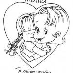 Dibujos de Felicidades Mamá para colorear y dedicar en el Día de la Madre