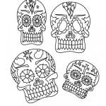 Dibujos de calaveras mexicanas del Día de los Muertos para colorear