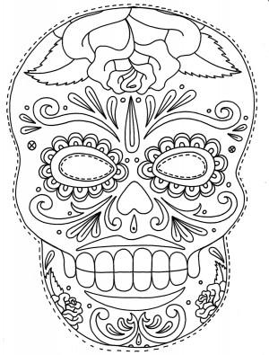 Dibujos De Calaveras Mexicanas Para Colorear En Halloween O Día De