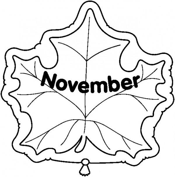 Dibujos Del Mes De Noviembre November En Inglés Para