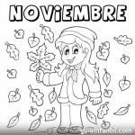 Dibujos de Noviembre para descargar gratis, imprimir y pintar