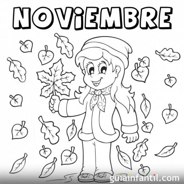 Dibujos de Noviembre para descargar gratis, imprimir y pintar ...
