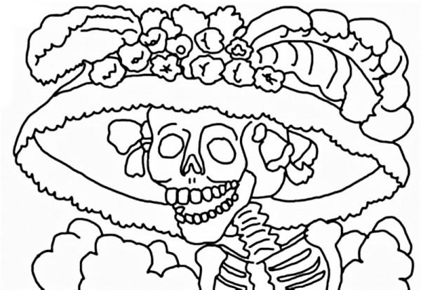 Dibujos Del Día De Los Muertos Para Imprimir Y Colorear Colorear