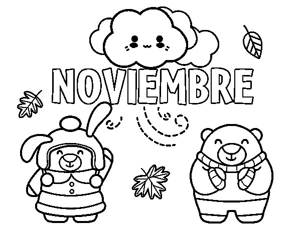 Dibujos Para Imprimir Y Pintar Del Mes De Noviembre