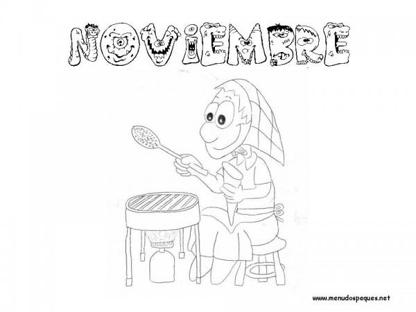 dibujos de noviembre para descargar gratis  imprimir y
