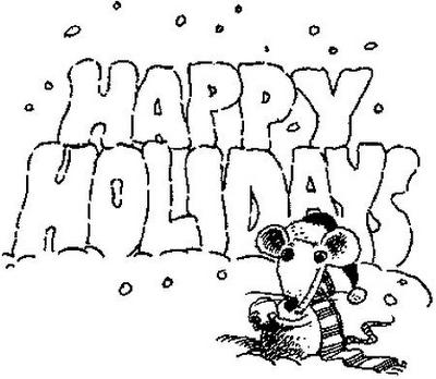 Happy Holidays!!! – Dibujos para colorear | Colorear imágenes