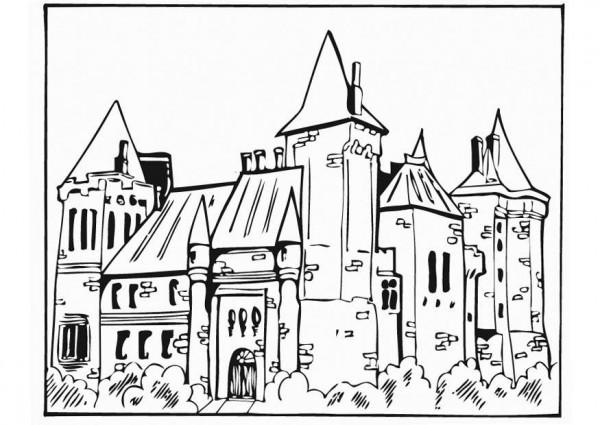 Dibujos de castillos de la Edad
