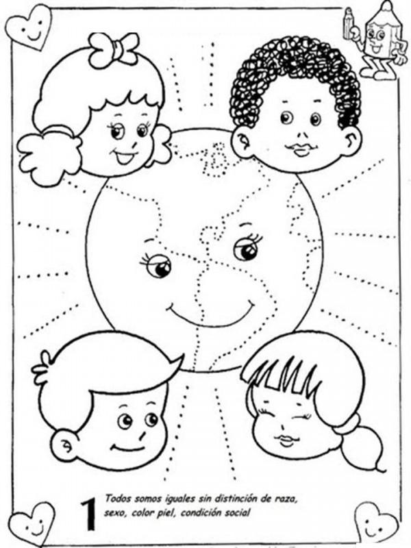 Dibujos del Día Mundial de los Derechos de la Infancia para colorear ...