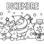 Dibujos del mes de diciembre para colorear
