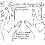 Día Internacional para la Eliminación de la Violencia contra las mujeres – Dibujos para pintar