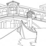 Góndolas y gondoleros de Venecia para pintar