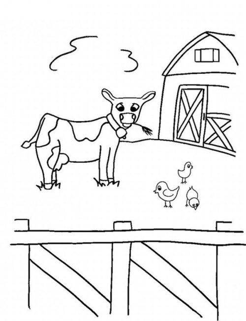 50 Dibujos De Granjas Y Animales Para Colorear Colorear Imagenes