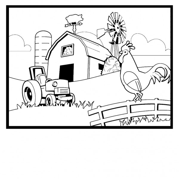 comic barnyard animals coloring pages - photo#23