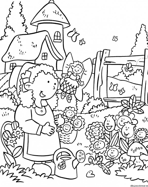 Dibujos de flores hermosas para descargar, imprimir y pintar esta ...