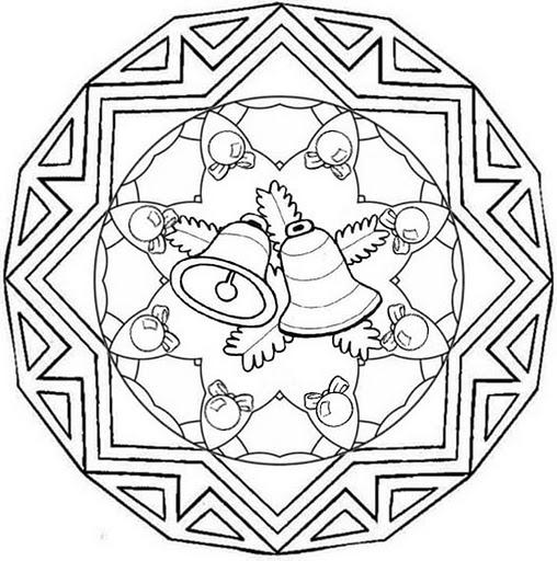 Imagenes De Motivos Navidenos Para Imprimir.Mandalas De Navidad Para Descargar Gratis Imprimir Y Pintar