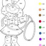 Fichas infantiles de matemáticas para descargar gratis y pintar