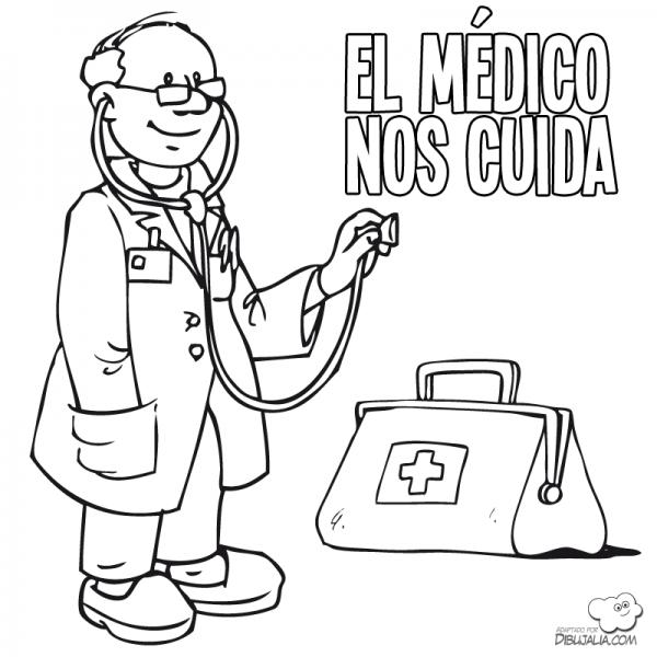 Díbujos Del Día Del Médico Para Imprimir Y Pintar Colorear