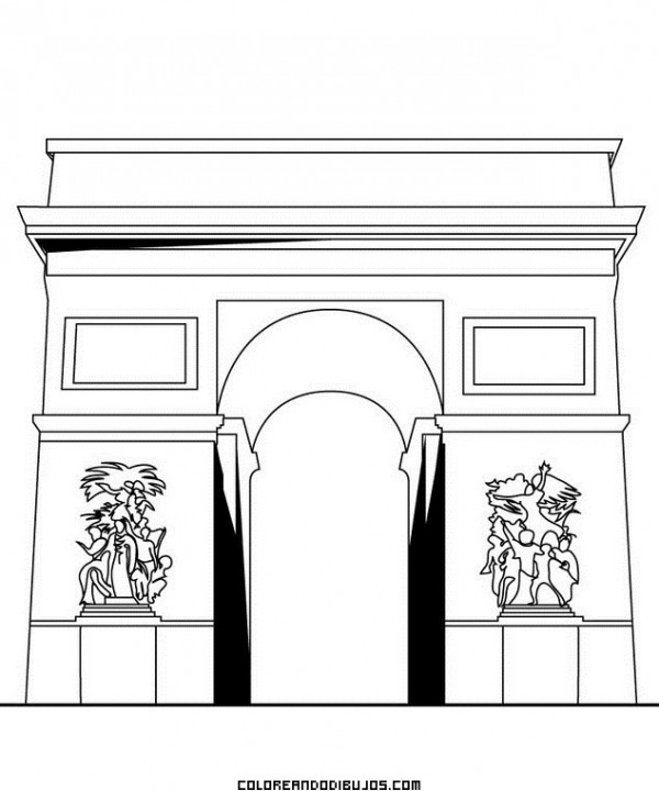 monumentoArco-de-Triunfo-para-colorear