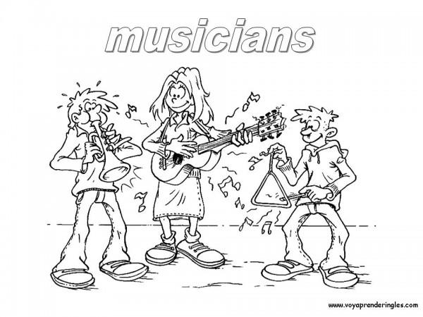 Felíz Día de la Música – Dibujos para imprimir y pintar ...
