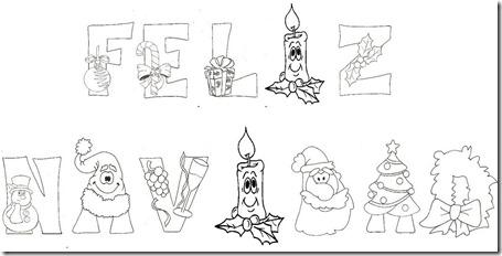Carteles de Felíz Navidad para imprimir y colorear | Colorear imágenes