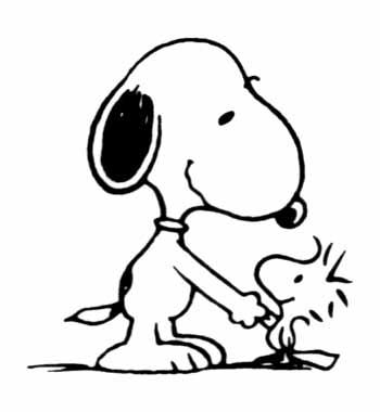 Dibujos infantiles de snoopy para colorear colorear im genes - Snoopy dessin ...