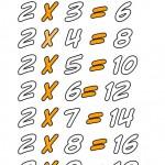 Tablas para aprender a multiplicar – Dibujos para colorear