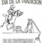 Día de la Tradición en Argentina – Dibujos para imprimir y pintar