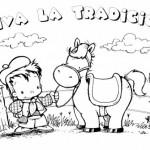 10 de Noviembre – Día de la Tradición Argentina – Dibujos para pintar