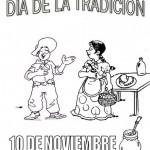 Pintando dibujos del Día de la Tradición Argentina