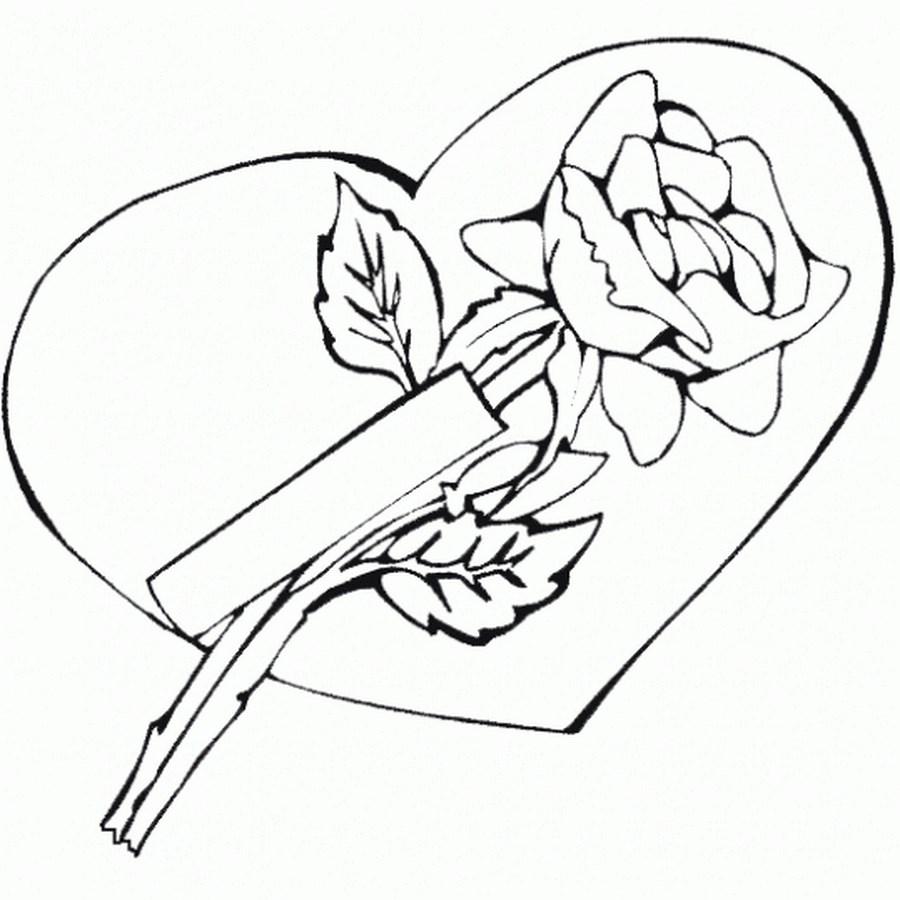 Dibujo-de-rosa-de-amor