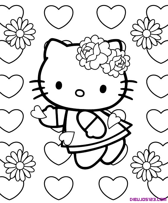 Hello-Kitty-y-corazones-de-amor