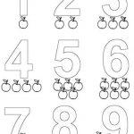 Fichas especiales para colorear y aprender los números