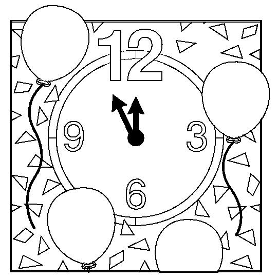 Dibujos de festejos de la llegada del Año Nuevo para pintar ...