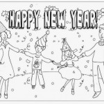 Happy New Year – Dibujos para pintar y regalar