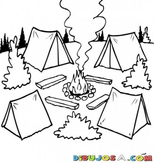 Dibujos De Campamentos Para Imprimir Y Colorear Colorear Imágenes
