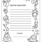 Cartas para Papá Noel con dibujos navideños para colorear