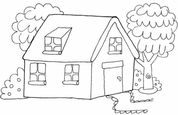 Dibujos de casas para imprimir y colorear colorear im genes - Formas de pintar una casa ...