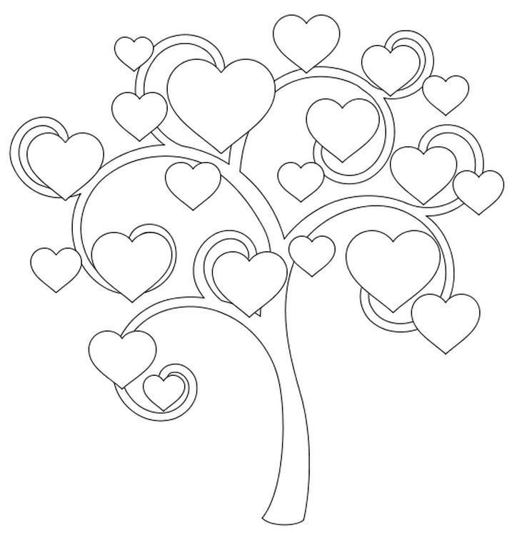 74 Corazones de amor para pintar, imprimir, descargar y regalar ...