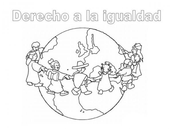 Culturas Del Mundo Para Colorear: Día Internacional De Los Derechos Humanos