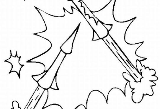 Fuegos Artificiales Dibujos Para Colorear Colorear Imágenes