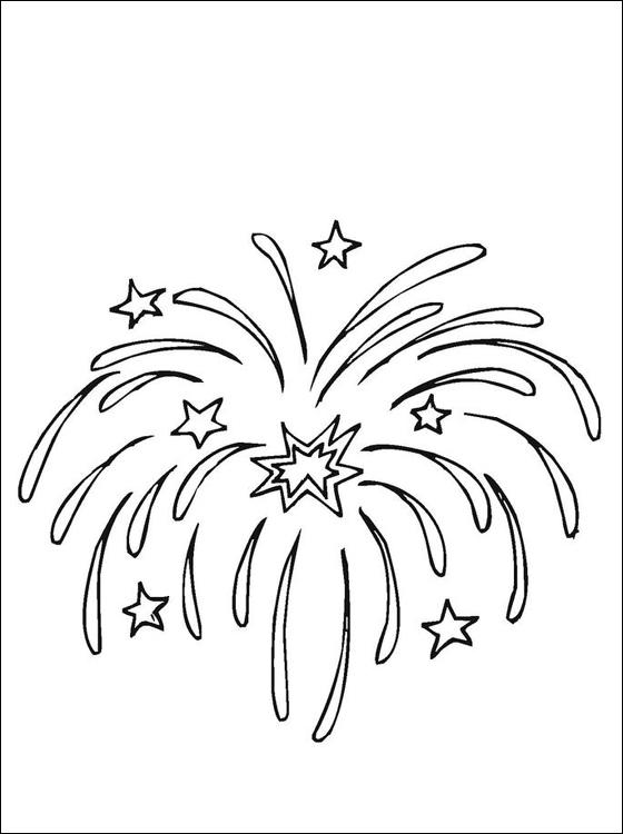 Fuegos artificiales – Dibujos para colorear | Colorear imágenes