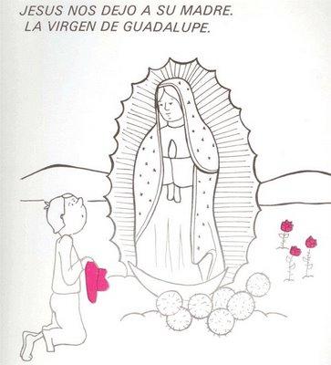 Dibujos Para Pintar De Nuestra Señora De Guadalupe Colorear Imágenes