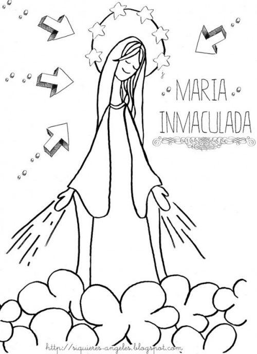 Dibujos De La Inmaculada Concepcion De Maria Para Imprimir Y