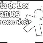 28 de diciembre – Día de los Santos Inocentes – Dibujos para pintar