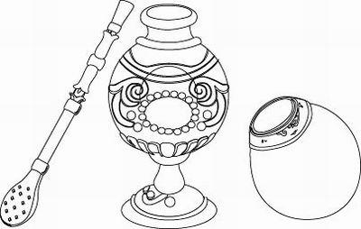 Dibujos Del Día Nacional Del Mate Para Pintar Colorear
