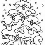 Árboles de Navidad para imprimir y colorear