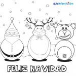 Dibujos de Felíz Navidad para descargar gratis, imprimir y pintar