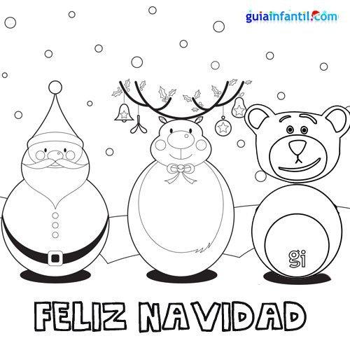 Dibujos de Felíz Navidad para descargar gratis, imprimir y pintar ...