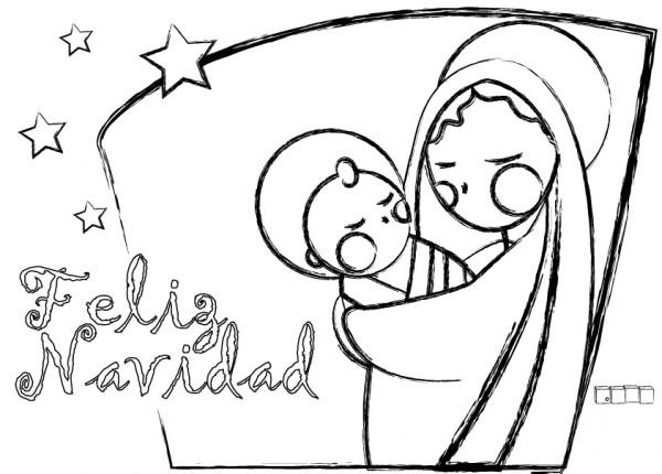 Dibujos de Navidad para imprimir y colorear | Colorear imágenes
