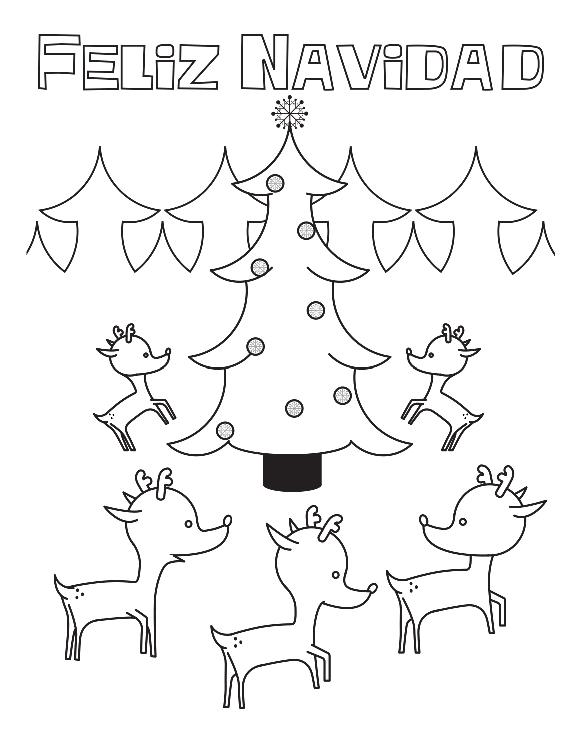 Tarjetas de Felíz Navidad para imprimir, colorear y regalar ...